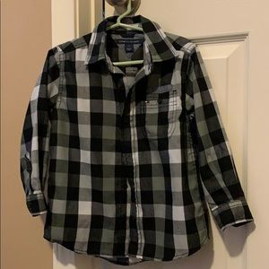 3T Tommy Hilfiger plaid long-sleeve Button-up